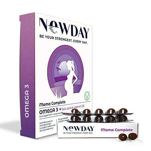 NewDay Mama Complete | Preconception & Pregnancy Vitamins | Omega 3 Capsules | Prenatal DHA Womens Supplements | Healthy Breastfeeding for Your Baby | Folic Acid | Vitamin D | Algae Oil | 60 Caps