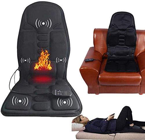 Nobrand Massage-Matratzenauflage aus Memoryschaum mit Wärme, 8 Modi, 5 Motoren, Massage-Matratzenauflage, Ganzkörper-Massagekissen, lindert Nacken, Rücken, Taille, Hüfte, Liegen und Sitzen