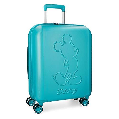 Disney Mickey Premium Maleta de cabina Verde 40x55x20 cms Rígida ABS Cierre TSA 38L 3,1Kgs 4 ruedas dobles Extensible Equipaje de Mano
