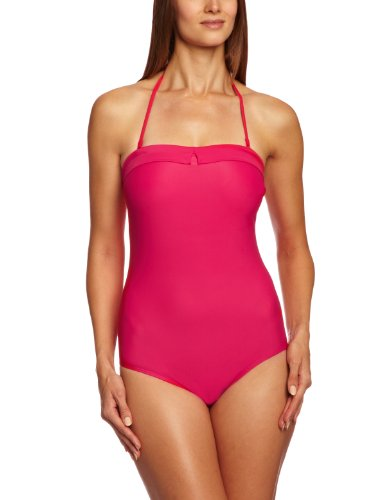 Cleo by Panache Women's Dolly Underwire Bandeau Swimsuit Strawberry 32D