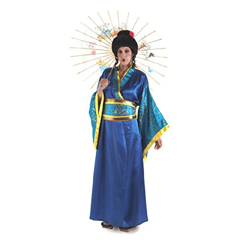 Disfraz de Gheisa azul para mujer