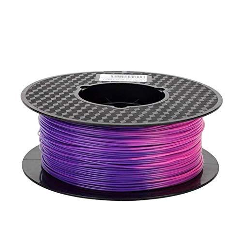 1/0.5/0.25KG Colour Changeable PLA, 1.75mm 3D Printer Filament, Using Temperature Sublimation Material (Color : Purple to Pink 1kg)