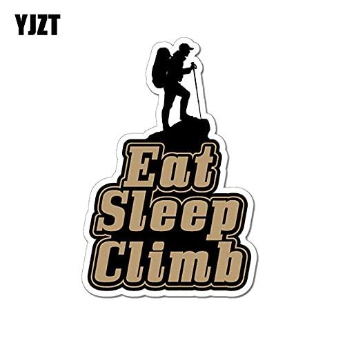 WAXY 10,4 CM * 15,2 CM Eat Sleep Climb Mountain al Aire Libre PVC Motocicleta Coche Pegatina 11-00336