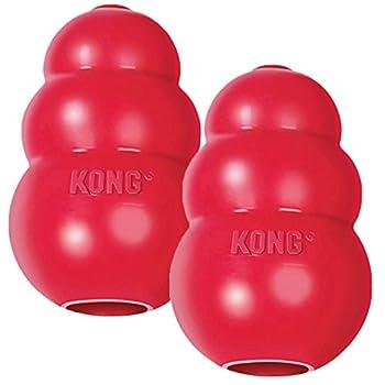 Kong Lot de 2 Jouets Classiques pour Chien Rouge Taille M