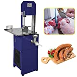 Huanyu 100 lb/H Meat Bone Saw Machine 0.5HP Commercial Electric Bone Cutter Vertical Frozen Meat Processing Machine Meat Grinder Enema Machine for Slaughterhouses Meat Processing Plants (110V)