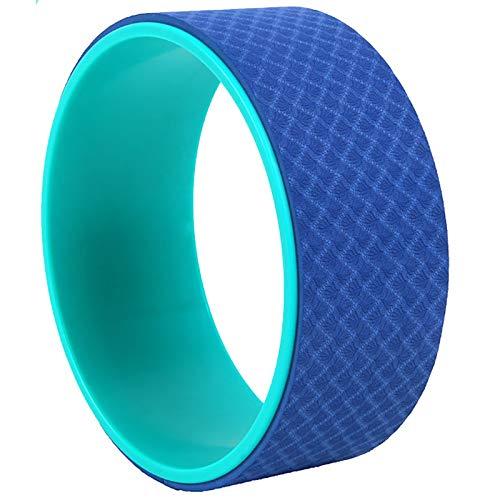 Rueda de Yoga Rueda DE Yoga TPE Yoga Rueda Adecuada para Productos DE Yoga DE CASA Y GIMNICO Anti-Skid Pilates Estable Círculo de Yoga (Color : Blue, Size : 13x33cm)