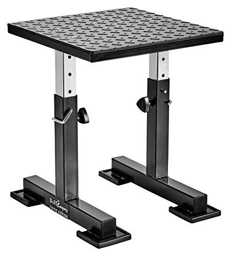 Bad Company höhenverstellbare Plyo-Box I Rutschfester Sprungkasten aus Stahl in Schwarz I Max. Gewichtsbelastung bis zu 300 kg I BCA-133
