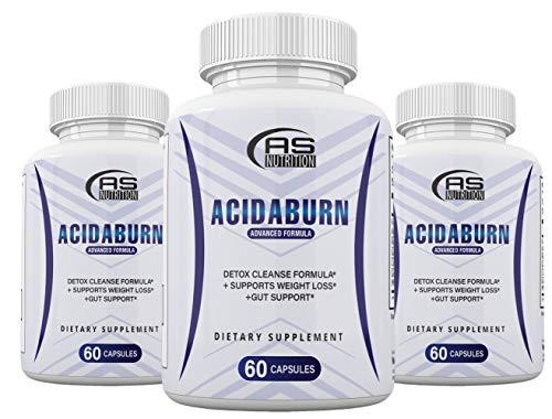 (3 Pack) Acidaburn Detox Cleanse Formula, Acidaburn Pills for Weight Loss, Acidburn Pills and Gut Support, 180 Capsules, 3 Months Supply