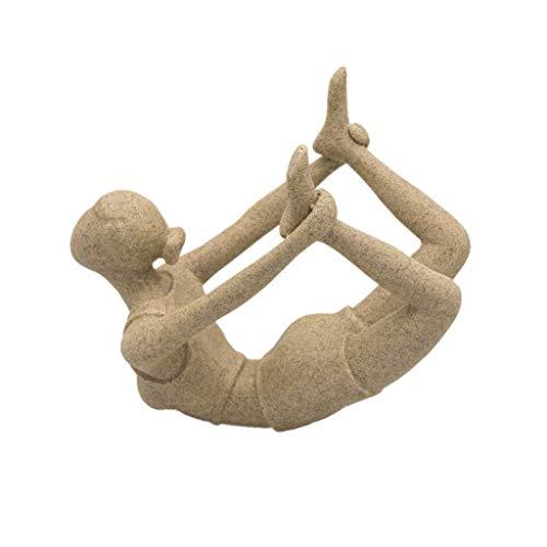 Backbayia Sandstein Skulptur Modellierte Gottheit Figur Gemeißelt für Hause Yoga Studio Dekoration
