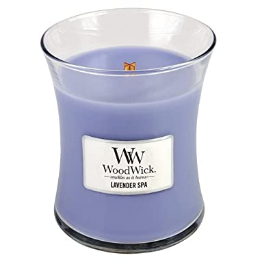 Woodwick Candle, Medium, Lavender Spa