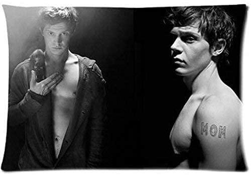 SHAA - Federa copricuscino personalizzata Evan Peters, 76 x 50 cm