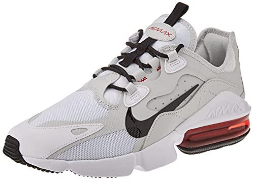 Nike Men's Air Max Infinity 2 Trail Running Shoe, White Black University Red Pho, 9.5