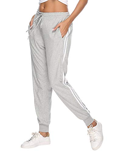 Aibrou 100% Algodón Pantalones Deportivos para Mujer