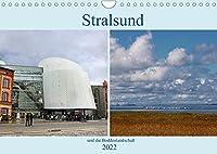 Stralsund und die Boddenlandschaft (Wandkalender 2022 DIN A4 quer): Hafen und Altstadt von Stralsund zusammen mit der weiten romantisch-wilden Boddenlandschaft (Monatskalender, 14 Seiten )