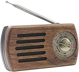 ポケットラジオ 携帯 FM/AM対応 レトロ 小型 モノラル 高感度 ワイドFM ポータブル簡単操作 ポケットサイズ コンパクト 木製 ラジオ 通勤ラジオ 単三 乾電池式 木目調