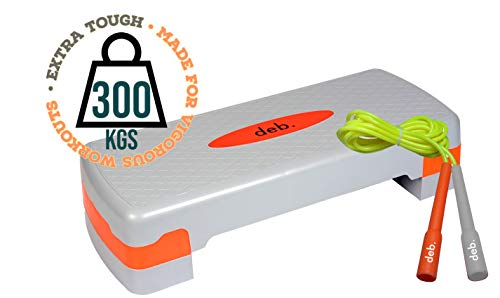 deb. Aerobic Stepper Adjustable Home Gym Exercise Fitness Stepper for Exercise Aerobics Stepper (Grey and Orange)