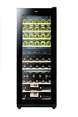 Haier WS49GDB 49 Bottle Dual Zone Wine Cooler Black by Haier