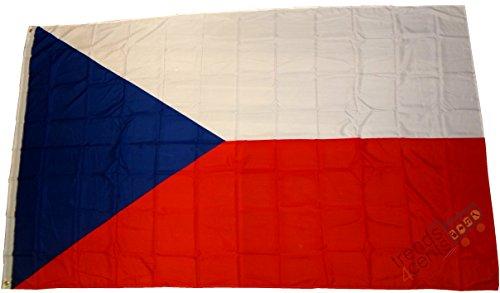 Top qualité - Drapeau de la Fédération czechia - Dimensions : 250 x 150 cm - Poids du tissu : env. 100 g/m2, très résistant,œillets en laiton extra forts