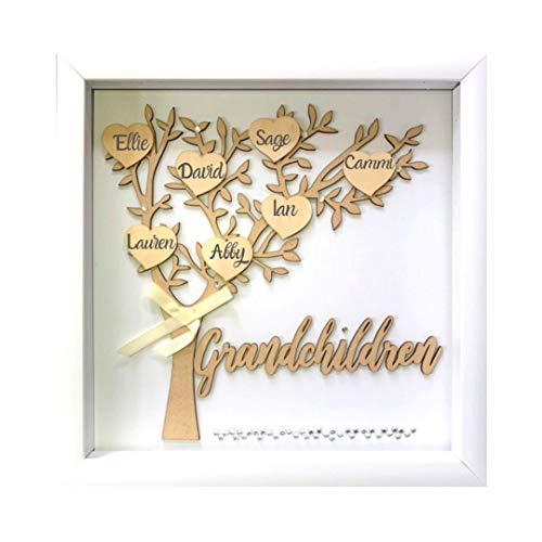 Tasse Verre 12x12 Grandchildren Shadow Box Kit - Family Tree Gift for...