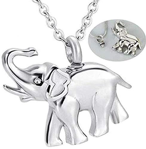 NC190 Collar de Cenizas Joyería de Recuerdo Calidad Metal Funerario Cremación Elefante Colgante Urna Collar Recuerdo para Cenizas Joyería Conmemorativa