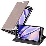 Cadorabo Hülle für LG V20 - Hülle in Kaffee BRAUN – Handyhülle mit Magnetverschluss, Standfunktion & Kartenfach - Hülle Cover Schutzhülle Etui Tasche Book Klapp Style