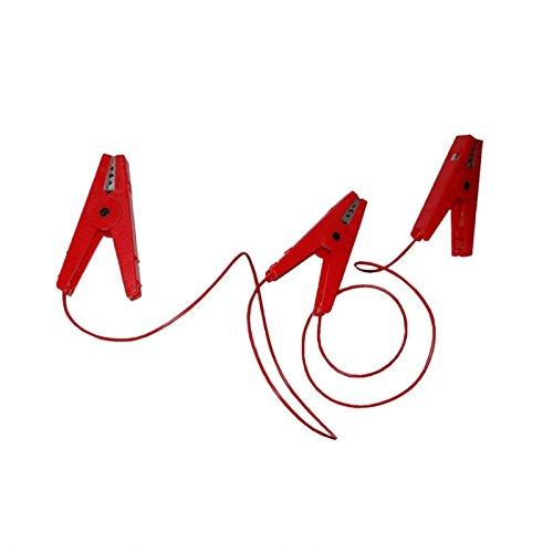 Göbel Weidezaun Elektrozaun Zubehör Zaunverbindungskabel mit 3 Krokodilklemmen rot