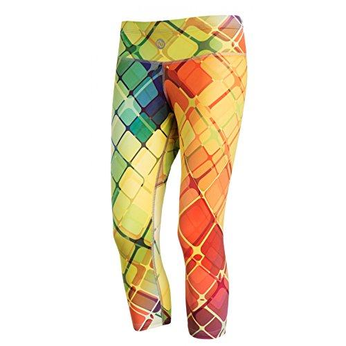 Nessi, OSTK, 3/4 leggings voor dames, fitnessbroek, ademend, gekleurd net