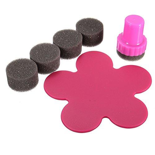 Lumanuby 1Set Teinture des Outils de Bricolage Tampon Stamping Ongle Manucure Eponge Nail Art Vernis Degrade Decor Sponge Éponge à Ongles