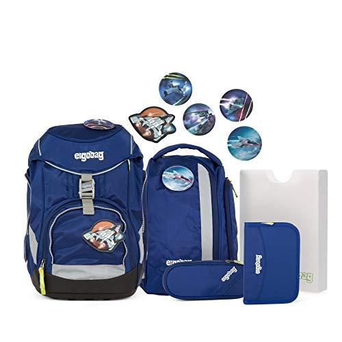 ergobag pack Set - ergonomischer Schulrucksack, Set 6-teilig, 20 Liter, 1.100 g - BlauchlichtBär - Blau