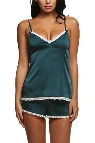 ADOME Women Sexy Satin Pajama Ca...