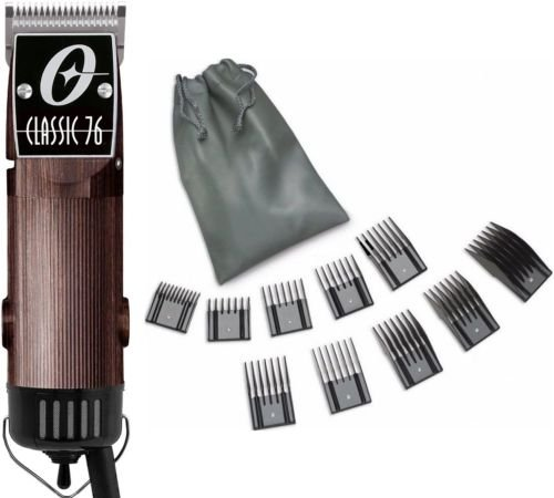 New Oster Classic 76 Wood Wooden Color Limited Edition Hair Clipper+10 PC Comb Set