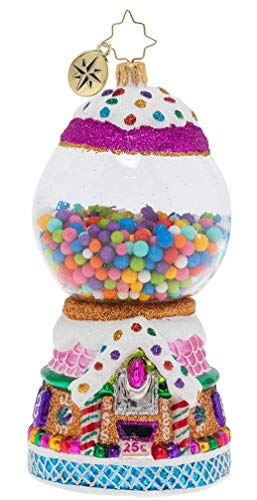 Christopher Radko Hand-Crafted European Glass Christmas Decorative Figural Ornament, Gumball Goodies