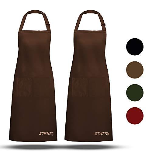 Etmury Tabliers de Cuisine 2 Pack Tablier avec...