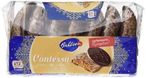 Bahlsen Contessa – würzige runde Lebkuchen mit Schokoboden – lecker mit edelherber Schokolade – kleiner Snack für zwischendurch – saftiges Weihnachtsgebäck, 23er Pack (23 x 200 g)