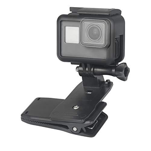 Topmener Clip di Zaino Clip Monte per Gopro Supporto della Clip Supporto 360 Gradi Girevole Rotazione rapido Morsetto Montaggio per Gopro e Come Le Macchine fotografiche GoPro Azione