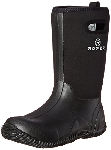 Roper unisex child Barnyard - K boots, Black, 7 Big Kid US
