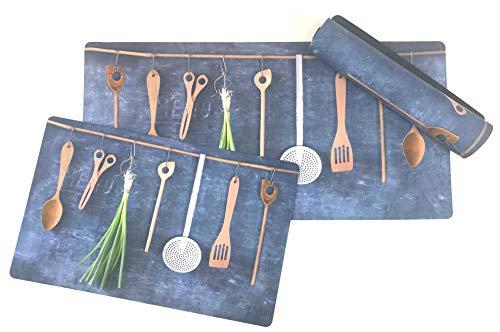 De'Carpet Alfombra Cocina Textil Estampado Digital Original Moderna Lavable Menaje Hogar (57x190cm)