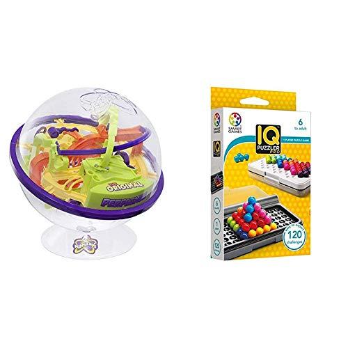 Spin Master Games 6022078 - Perplexus Original, Geschicklichkeitsspiel, 100 Herausforderungen & Smart Games SG455 IQ-Puzzler PRO, Geschicklichkeitsspiel, Reisespiel, Gehirntraining