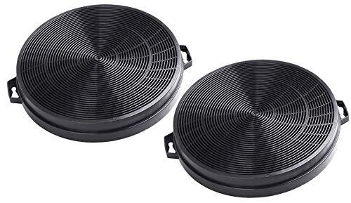 AquaHouse CHF02I Lot de 2 filtres à charbon pour hotte aspirante Ignis, Juno, Kenwood, Proline et beaucoup d'autres marques de filtre de hotte 210 mm