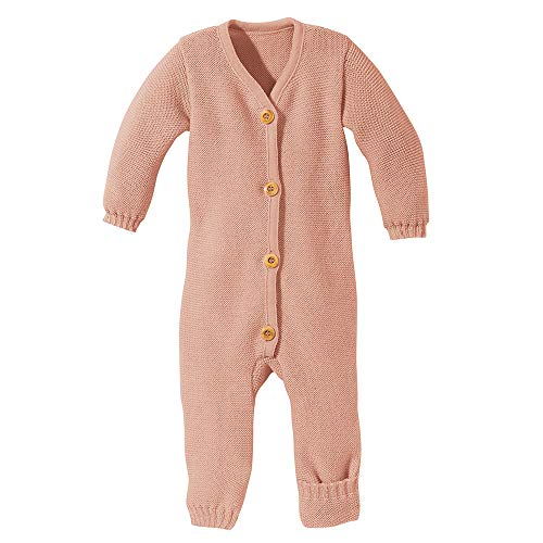 Disana Baby Strick-Overall Bio-Merinowolle, Rose, Gr. 50/56