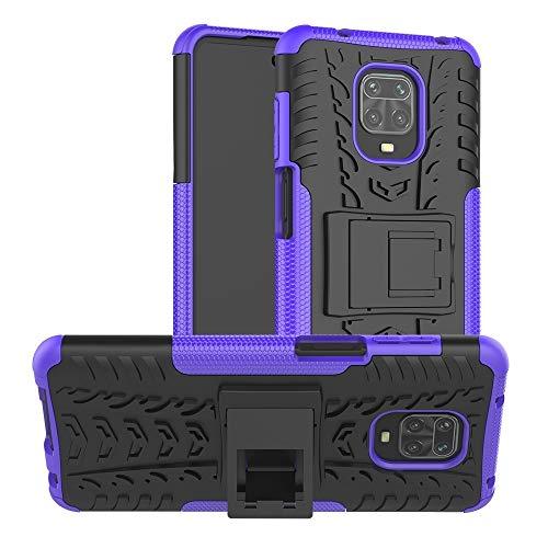Dmtrab Phone Case for Xiaomi redmi Note 9S /9 Pro /9 Pro MAX Case,Funda Protectora TPU+PC TPU +PC TPU +PC con Soporte(Rojo) Caja del teléfono Funcional (Color : Purple)