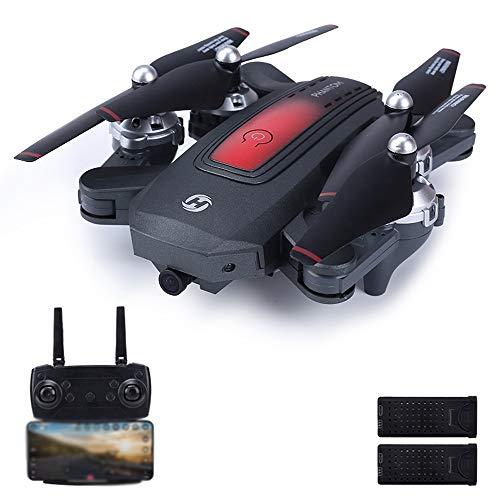 Logo Folding Drone HD Luftaufnahmen Fernbedienung Flugzeug Kindermodellflugzeug Spielzeug 720P Optischer Fluss Feste Höhe Tropfen Resistant Fernbedienung Flugzeug Erwachsene und Kinder Top Race R / C