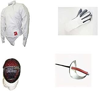Blade Practice 4 Piece (Jacket, Glove, Sabre, mask) Sabre Fencing Beginner Set
