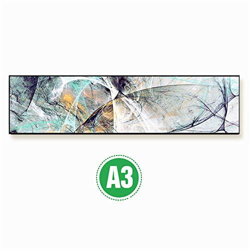 WSNDG Micro spuit banner frame slaapkamer nachtkastje abstract canvas schilderij zonder fotolijst 30x120cmx1 3a