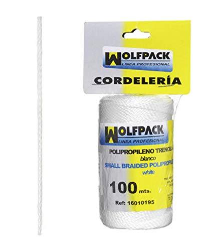 Wolfpack Linea Profesional 16010195 Cuerda Trencilla Polipropileno Blanco (Bobina 100 Metros)