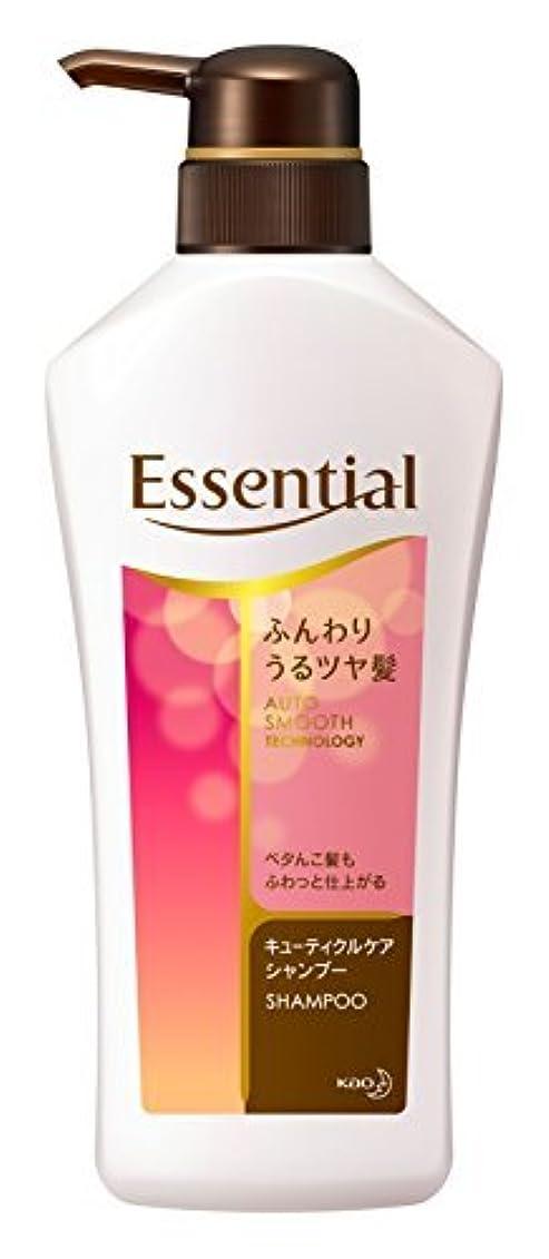 ハンカチ普及絶壁エッセンシャル シャンプー ふんわりうるツヤ髪 ポンプ 480ml Japan