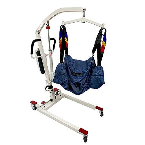 FC-Bed Home Care Medical Patientenlift Verstellbarer Elektropatientenlifter, elektrische Patientenlift Hydraulic Medical Body Lift mit Full Mesh-Riemen, 400LB Gewicht Kapazität