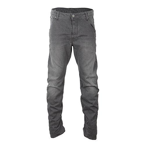 G-STAR RAW Herren Arc 3D Tapered Fit Jeans in Accel Grey - Blau - 34W / 32L