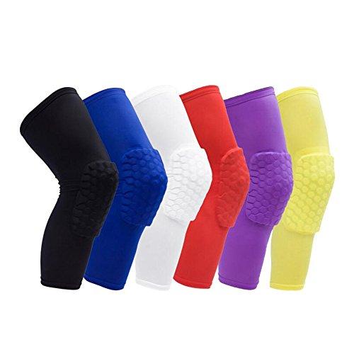 1 par de rodilleras de protección 1Bests transpirables y anticolisión para baloncesto, alpinismo, ciclismo, negro, Small