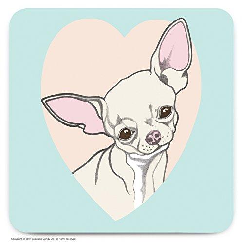 Le cadeau idéal pour les amateurs de 'Chihuahua'. – mignon Cœur fantaisie Dessous-de-verre